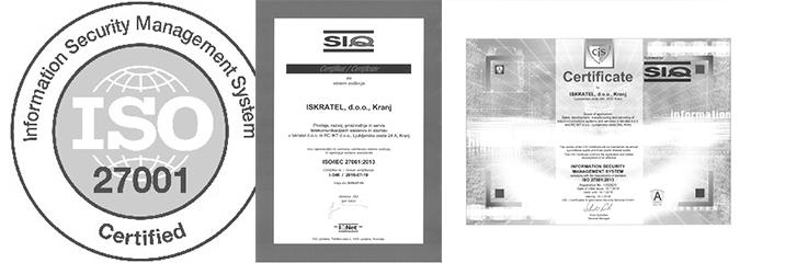 (Slovene) Pridobili smo certifikat ISO/IEC 27001